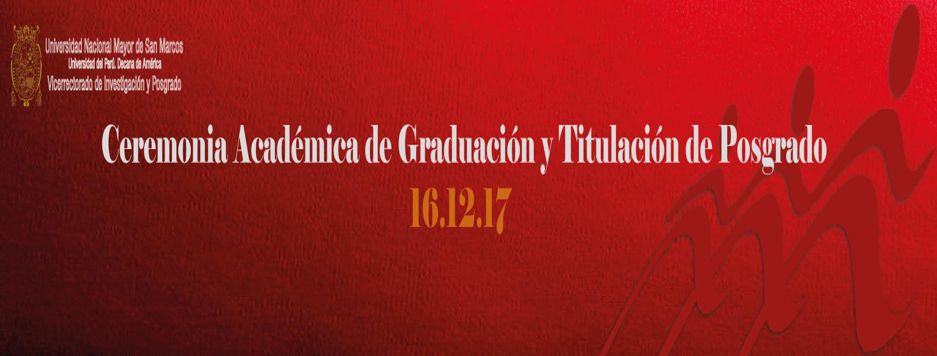 Ceremonia de Graduación Posgrado